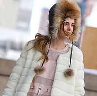 Wholesale Women S Faux Mink Coat - faux fur jacket coat mink hair rex rabbit hair cape jacket black white fur overcoat imitation rabbit fur Outwear Pink 7XL H6 manteau