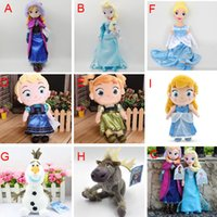 Wholesale Cheapest Action Figures - 10pcs frozen doll 50cm 20 inch 20'' elsa anna action movie figures one piece sven olaf kristoff cinderella plush toy children Gift Cheapest