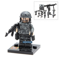Wholesale Toy Soldiers Buildings - 10pcs Classic Alloy Weapons SWAT military army soldiers building blocks brick sets best Christmas gifts toys for children