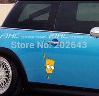 Wholesale Sticker Simpsons - xterior Accessories Car Stickers funny simpsons Car Stickers decals Simpson family on the door windshield universal pvc car styling mot...