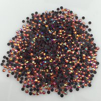 Wholesale Hot Fix Siam - 1440Pcs Lot 2MM HotFix Rhinestone Iron-On Siam AB DMC Hot Fix Crystal Stones SS6