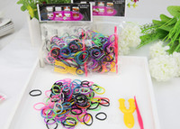 Wholesale Wholesale Loom Charms - NEW Hot Loom Bands 480pcs DIY Woven Rubber Bracelet Bands Colorful Tie Dye Rubber Bands Best Gift for Kids