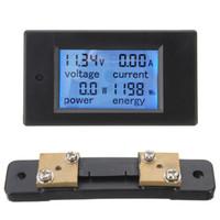 Wholesale Dip Meters - Electronic Liquid Crystal Display 50A DC Digital Power Meter Monitor Power Energy Voltmeter Ammeter +Shunt Hot Sale