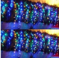 Wholesale Deco Fruits - 120 LED3.5M curtains icicle lights Christmas windown Party deco. luminaria 8 mode 110V 220V Free Shipping