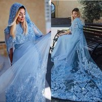 Wholesale Hats Pictures - Jewel Blue Lace Appliques Beautiful With Hat Special New Coming Evening Dresses Evening Gown Prom Dresses Custom Made