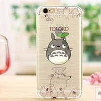 Wholesale Shin Chan Iphone Case - TPU case For iphone 6s iphone 6 plus Lovely Transparent cartoon Totoro duck mouse Crayon Shin-chan nipple cell phone case cover