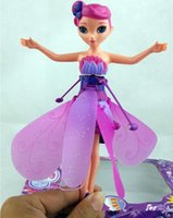 Wholesale Doll Baby Education Toys - Newest DIY Flying Fairy Dolls Learning and Education Infrared Induction Control Flying Angel Dolls Baby gifts toys for girls