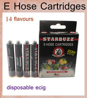 Wholesale Cheap Wholesale E Hookahs - e cig disposable e-cigarette starbuzz e hose cartridges cheap e shisha 1000 hookah puffs starbuzz e-hose cheap DHL free shipping HK010