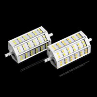Wholesale Halogen Bulb R7s - Replace 100W Halogen Lamp 10W R7S 42 SMD 5050 Led Floodlight Bulb Lamp 85-265V Warm Cold White 118mm