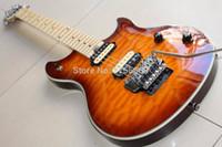 gitarrenkörper zakk wylde großhandel-Neue Ankunft Benutzerdefinierte evhwolfgang E-Gitarre Mahagoni Korpus Ahorn Hals Sunburst 120925