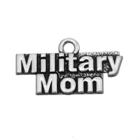 Wholesale Military Plates Metal - Free shipping New Fashion Easy to diy 20Pcs Metal Alphabet Military Mom Charms Jewelry For Women jewelry making fit for necklace or bracelet