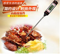 Wholesale Digital Wireless Thermometer Kitchen - Hot LED Digital Food Cooking Thermometers BBQ Food Probe Meat Kitchen Slectable Household Themometer Gauge Steak TP101 wireless Thermometer