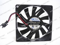 Wholesale Ball Chassis - Original 8CM 8015 TX8025L12S 12V world 0.09A 80*80*15MM chassis power supply fan two line terminal