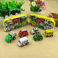 6pcs lot Pull Back Car Toys Car Children Racing Car Baby Mini Cars Cartoon Pull Back Bus Truck Kids Toys For Children Boy Gifts