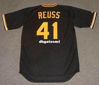 Cheap Custom JERRY REUSS Pittsburgh Pirates 1978 Majestic Cooperstown Baseball Jersey Retro Mens Jerseys