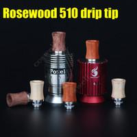électronique rouge achat en gros de-Nouveau Rosewood Drip Tip 510 Embouchures en bois rouge Boisy Matériel en acier inoxydable adapté pour Atty vape Mods Atomiseur Cigarettes électroniques