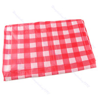 Cotton Gingham Tablecloths   U95 Red Gingham Check Oil Cloth Yardage  Tablecloth One Time Wedding Party