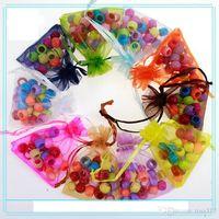 Wholesale Souvenir Pouch - Wholesale-Candy bags Organza Favor Bags 9 x12cm, Wedding Jewelry Packaging Pouches, Nice Gift Bags, souvenir bag 500 PCS lot 1507