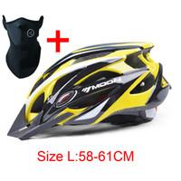 Wholesale Bicycle Helmets Moon - Wholesale-2015 MOON Bicycle Helmet 21 Air Vents Cycling Ultralight and Integrally-molded Bike Helmet Road Mountain Helmet