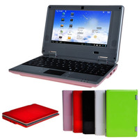 Wholesale Wholesale Cheaper Processors - Cheaper 7 inch VIA8880 Mini netbook computer Dual Core Android 4.2 512MB Ram 8GB Rom ultrabook with Webcam wifi