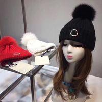 Wholesale Bobble Man - A00M - FUR Winter fur pompom Cloches , wool hat, Big Real Fox fur bobble hat 3 colors free size.