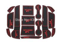 Wholesale Mitsubishi Outlander Mats - Wholesale-Auto anti-slip cup mat non slip door gate pad for mitsubishi outlander 2013 2014 2015, free shipping