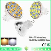 Wholesale Mr11 Glass - led bulb glass cup light AC DC 12 volt 7W warm natural whitem MR11 spotlight bright light lamp for indoor lighting