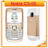Wholesale small mobiles resale online - C3 Original Nokia C3 Bluetooth FM JAVA MP small size Unlocked refurbished Mobile Phone
