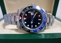 ingrosso bracciale watche-2 di alta qualità watche 40MM GMT 116710 116710LN Asia 2813 vetro zaffiro Bracciale in acciaio inossidabile Mens Orologi automatici