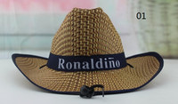 Wholesale Logo Giveaway - Wholesale-Custom Straw hat with your logo promotional sun hat with logo corporate gifts giveaways free shipping, short delivery time