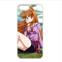 protectores iphone al por mayor-animado caliente Spice and Wolf caracteres atractiva chica orejas animales Holo para el iphone 4 4s / 5s 5/6/6 más caso a Okami Koshinryo Horo phonecase 21-25