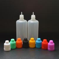 Wholesale Empty Drop Bottles - 60ml Plastic Dropper Bottles NEW LDPE EYE DROPS E-cig OIL bottles E liquid empty Dropper bottles CHILD Proof Caps 8 Colors In Stock
