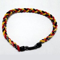 Wholesale Wholesale China Like Plates - Three Braided Rope Bracelet High Quality Unisex FashionTribal Style Bracelet Jewelry Titanium Braided Necklace Sell Like Hot Cakes
