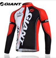 Wholesale Giant Jersey Only - Wholesale-portswear giant long sleeve cycling jersey bike jersey cycling wear clothes bicycle bike only long jersey