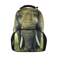 Wholesale Backpack Zoo School Bag - trendy 3d animals tiger head backpacks men's travel backpack zoo owl dinosaur panda bagpack children school bags for teenagers