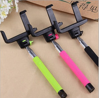 Wholesale iphone monopods - Wireless Self Camera Monopod Bluetooth Selfie Stick Monopod with Zoom Remote Control Autodyne Camera Monopods For Iphone Samsung Phones