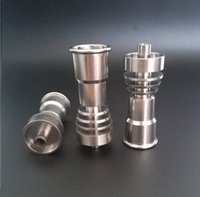 Wholesale Domeless Titanium Nail fits to mm mm GR2 Pure Titanium Nail with Female Jiont for Water Pipe Glass Bong Smoking