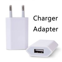 Wholesale European Charger Usb - USB Chargers Adapters Fast Charging Head European Regulations 5V 1A Portable Power Adapter with Retail Package