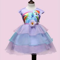 Wholesale Tutu Items - Hot Item 2016 Summer Girls Cartoon Wedding Dresses Little Pony Children Flower TUTU Dress Kids Princess Costume Vestidos free shipping