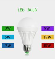 dış aydınlatma toptan satış-E27 LED ampuller 3 W led ışıklar Beyaz / sıcak Enerji Tasarrufu Ev aydınlatmaları 3 w 5 w 7 w 9 w 12 w 110 V Dim top ampul