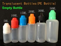 Wholesale E Liquid Bottles Needles - E Liquid bottles PE E Juice bottle Needle Plastic Dropper Bottle 5ml 10ml 15ml 20ml 30ml 50ml Empty bottle E-Liquid Bottle for ecig