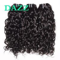 Wholesale Remy Water Wave Weave - DAZZ Mink Brazilian Virgin Hair Water Wave Hair 4 Bundles Deals Weave Bundles Water Wave Bundles Remy Wet And Wavy Human Hair Extensions
