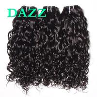 bakire brezilya saç demeti fiyatları toptan satış-DAZZ Vizon Brezilya Bakire Saç Su Dalga Saç 4 Demetleri Fırsatlar Örgü Demetleri Su Dalga Demetleri Remy Islak Ve Dalgalı İnsan Saç Uzantıları