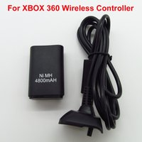 Wholesale Rechargeable Backup Battery Pack - 2 in1 Ni-MH 4800mAh Rechargeable Battery Pack Kit+ USB Cable Charging Charger Backup for Microsoft Xbox 360 Wireless Controller