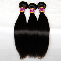 Indian Virgin Remy Cabelo Liso 3/4 Pcs Lote Unprocessed Indiano sedoso Straight Human Hair Weave Bundles Natural Black Extensions Double Weft