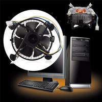 Wholesale Cpu Socket Lga 775 - Wholesale- High Quality PC CPU Cooler Cooling Fan Heatsink For Intel Core 2 LGA Socket 775 to 3.8G E97375-001 4Pin 12V
