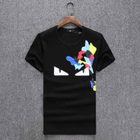 Wholesale devil cards - Fashion Men's T-Shirts new spring high street series devil tide card printing plate type male special short sleeved T-shirt black white