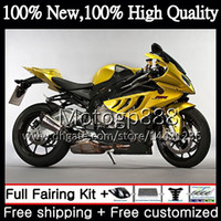 Wholesale Bmw R Motorcycle - Injection Body For BMW S1000R S 1000RR S1000RR 15 16 17 11G813 S1000 R S 1000 RR Golden black S1000 RR 2015 2016 2017 17 Motorcycle Fairing