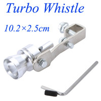 Wholesale Hot Sale Universal Turbo Sound Whistle Exhaust Pipe Tailpipe BOV Blow off Valve Simulator Aluminum Size M K886 M