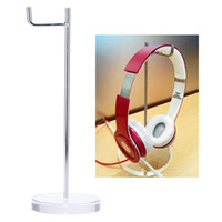 Wholesale Display Hanger Rack - 2-in-1 Universal 15mm Acrylic Base Headphone Stand Headphone Display Rack Headset Hanger Earphone Holder for AKG Sony Monster V986